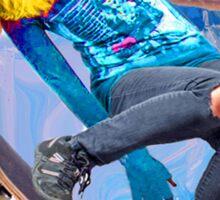 Skateboarding on Water Sticker