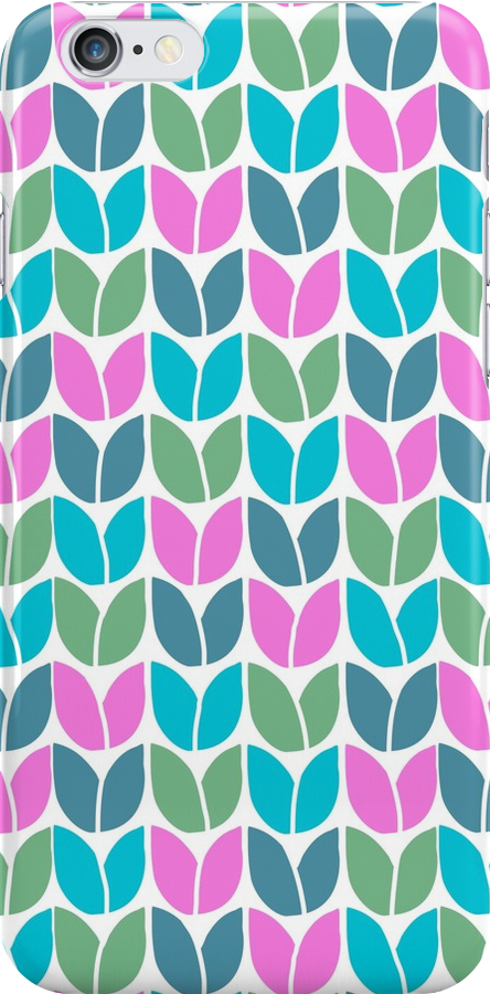Tulip Knit (Blue Pink Green) by Beth Thompson