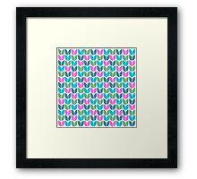 Tulip Knit (Blue Pink Green) Framed Print