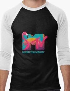MTV Flamingo Men's Baseball ¾ T-Shirt