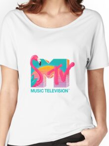 MTV Flamingo Women's Relaxed Fit T-Shirt