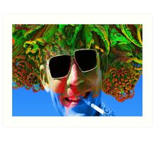 Hunter S Thompson-Gonzo Man Art Print