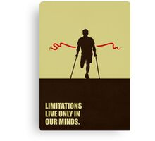 Limitations Live Only In Our Minds - Corporate Start-Up Quotes Canvas Print