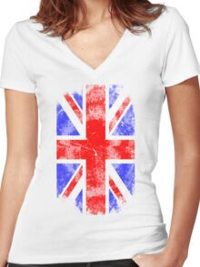 Union Jack - Vintage Look Women's Fitted V-Neck T-Shirt