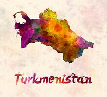 Turkmenistan  in watercolor by paulrommer