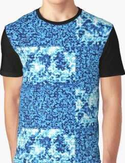 Glacier Bright Brilliant Blue Crushed Winter Abstract Blocks of Ice Cubes  Graphic T-Shirt