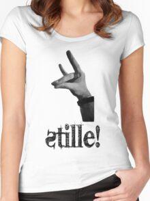 Stille! - Der stille Fuchs! Women's Fitted Scoop T-Shirt