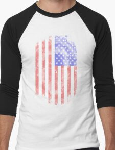 USA Flag - Vintage Look Men's Baseball ¾ T-Shirt