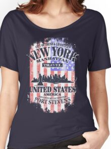 USA Flag - Vintage Look Women's Relaxed Fit T-Shirt