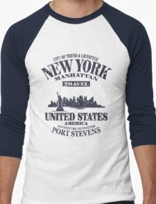 New York Skyline Men's Baseball ¾ T-Shirt