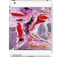 Woman as old as she looks - Original acrylic painting on Canvas iPad Case/Skin