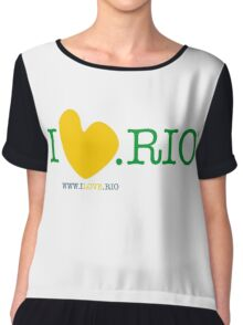 ILOVE.RIO #001 YELLOW/GREEN/BLUE Women's Chiffon Top