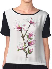 Magnolia blossoms Chiffon Top