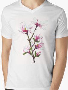 Magnolia blossoms Mens V-Neck T-Shirt