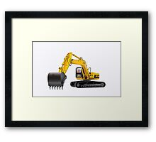 Heavy Equipment Work Machinery Framed Print