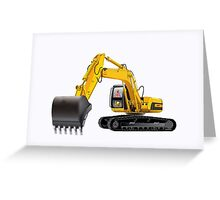 Heavy Equipment Work Machinery Greeting Card