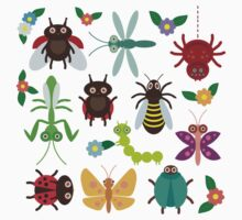 Insects on green Kids Tee