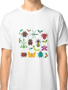 Insects on green Classic T-Shirt