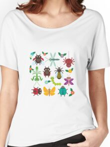 Insects on green Women's Relaxed Fit T-Shirt