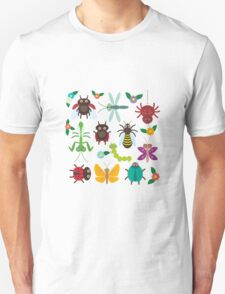 Insects on green Unisex T-Shirt