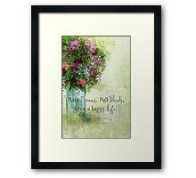 Weeds Dreams Life Framed Print