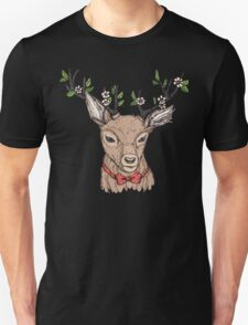 Deer with floral crown on antlers T-Shirt