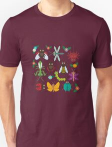 Insects on white T-Shirt
