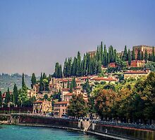 Castello San Pietro Verona by Colin Metcalf
