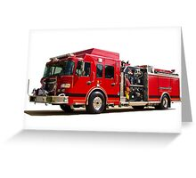 Emergency Fire Engine Greeting Card