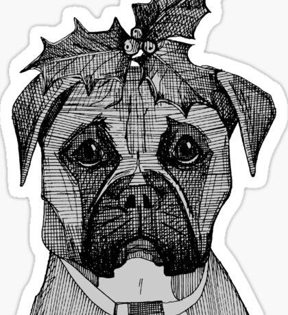christmas dogs Sticker