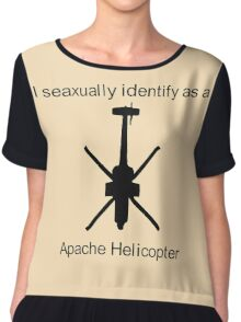 Apache Helicopter Chiffon Top