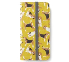beagle scatter yellow iPhone Wallet/Case/Skin
