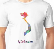 Vietnam in watercolor Unisex T-Shirt