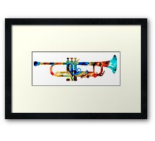 Colorful Trumpet Art By Sharon Cummings Framed Print