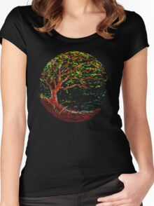 impressionist tree Women's Fitted Scoop T-Shirt