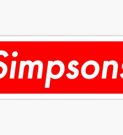 Simpsons, supreme Sticker