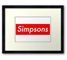 Simpsons, supreme Framed Print