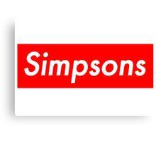 Simpsons, supreme Canvas Print