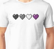 Asexual Pixel Hearts Unisex T-Shirt