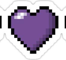 Bisexual Pixel Hearts Sticker