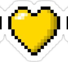 Pansexual Pixel Hearts Sticker