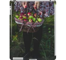 woman carrying a basket of apples iPad Case/Skin