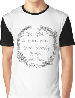 Peter Pan - One Girl Wreath Graphic T-Shirt