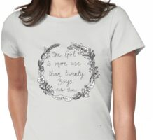 Peter Pan - One Girl Wreath Womens Fitted T-Shirt