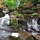 Waterfall on Darwen moor Lancashire by eddiej