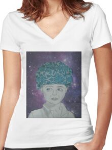 Indian Boy Women's Fitted V-Neck T-Shirt