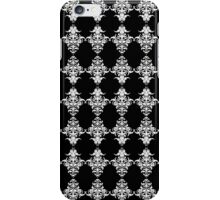 Gothic Black and White Damask Pattern iPhone Case/Skin