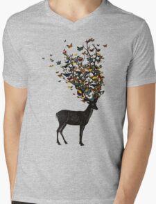 Wild Nature Mens V-Neck T-Shirt