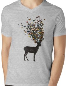 Wild Nature Mens V-Neck T-Shirt