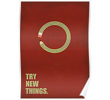 Try New Things Corporate Start-Up Quotes Poster